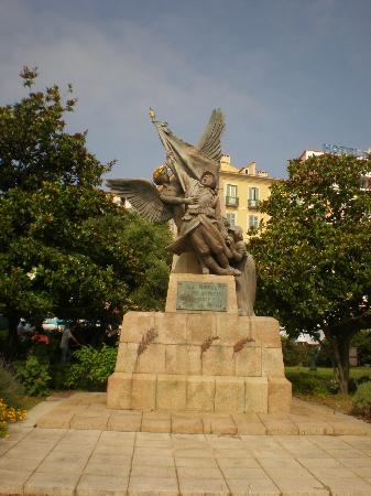 plaza del centro de ajaccio