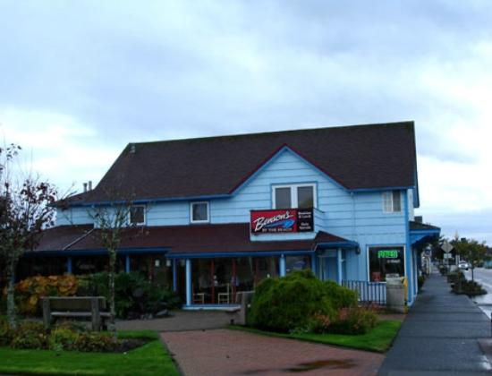 Benson's By The Beach: Outside View Looking South