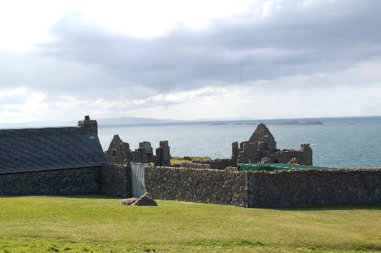 Dunluce Castle: View of the sea from Dunluce ruins