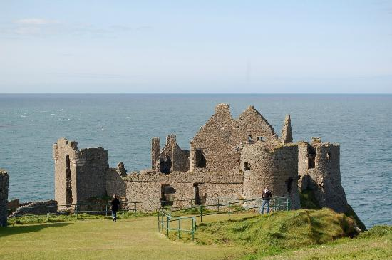 Dunluce Castle: View of the sea