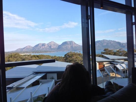 Saffire Freycinet: Sitting in the lounge watching the ever changing view of The Hazards