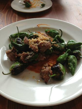 Oak at Fourteenth: Peppers with house made sausage
