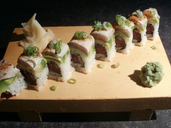 Sushi Okalani: Roll 4 Ever - seared albacore, avocado, spicy tuna!