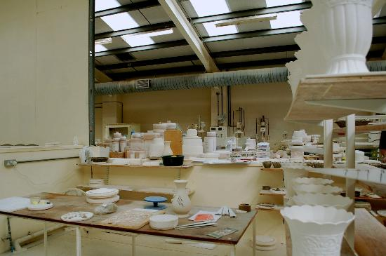 Belleek Pottery & Visitor Centre: Snapshot of a part of the factory interior