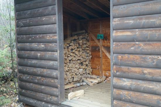 Bearskin Lodge: Plenty of firewood!