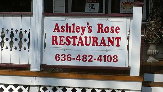 Ashley Rose Restaurant & Inn: Sign w/phone number