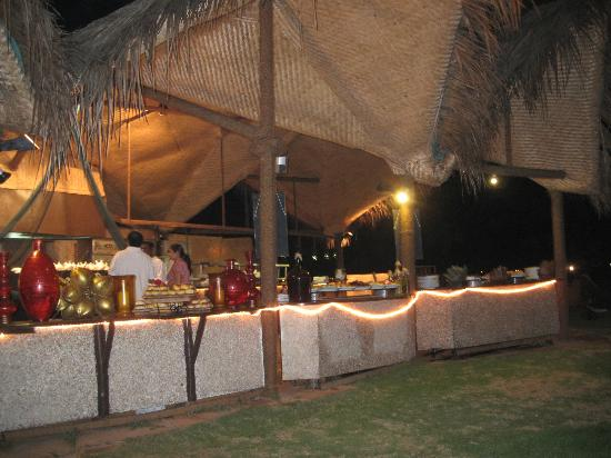 Taj Exotica Goa: fish bbq next to beach