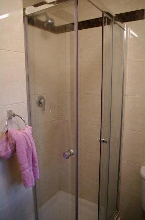 The Dublin Central Hostel: shower..