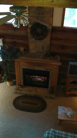 Cabins in the Pines: Gas Fireplace