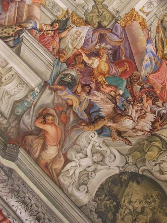 Neue Residenz: Ceiling in the first room
