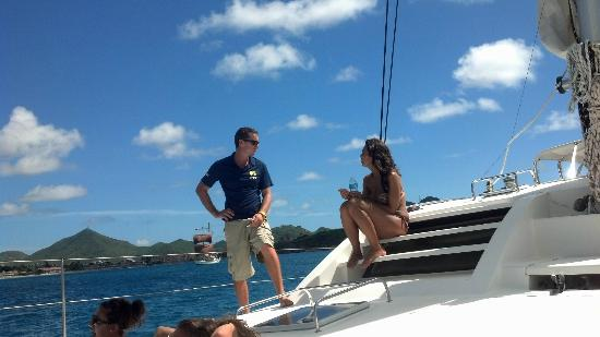 Private Yacht Charter SXM: One of the crew members