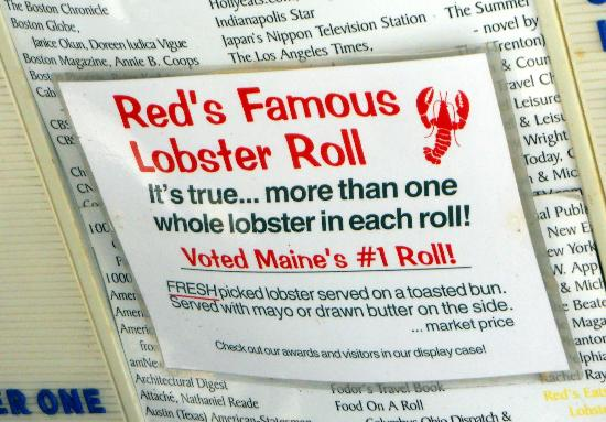 RED'S EATS - Wiscasset Maine - BEST LOBSTER ROLLs