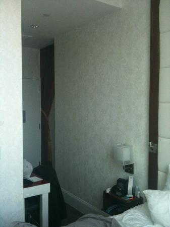 Hotel Indigo: Notice how small the room is--this is looking from the foot of the bed
