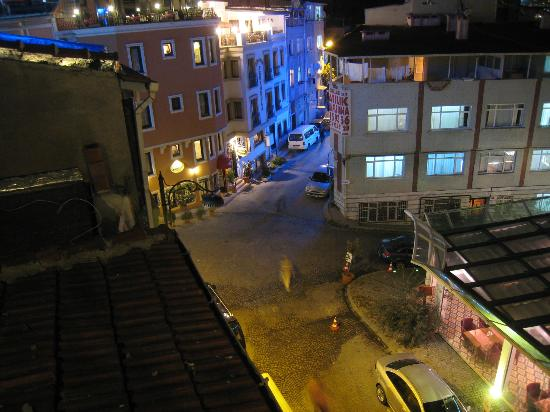 Agora Guesthouse: Street Below, from Roof