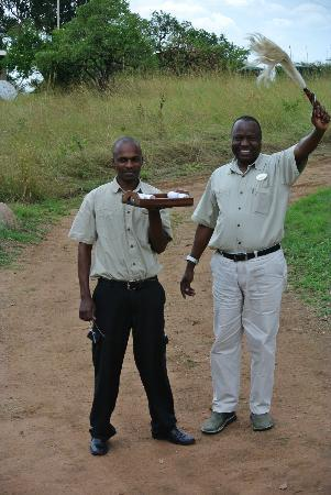 Serengeti Bushtops Camp: Welcome home from Pantaleo.
