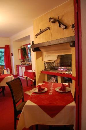 La Vigne Haute : diner devant la cheminée