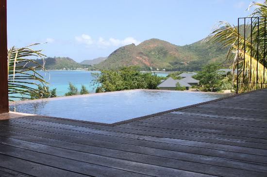 Raffles Seychelles: Your own private pool at your bungalow.