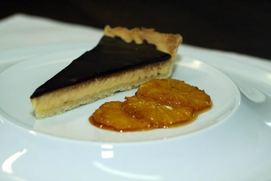 Palazzo Restaurant: Jaffa chocolate tart served with glazed oranges
