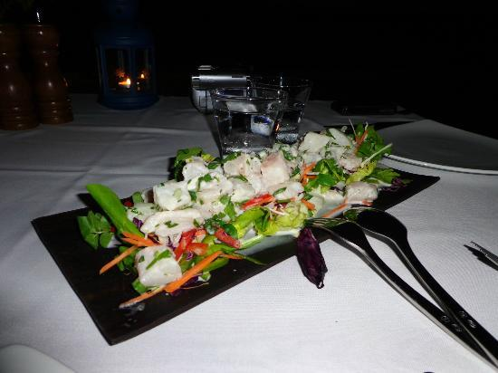Eratap Beach Resort: Fish Salad - delicious