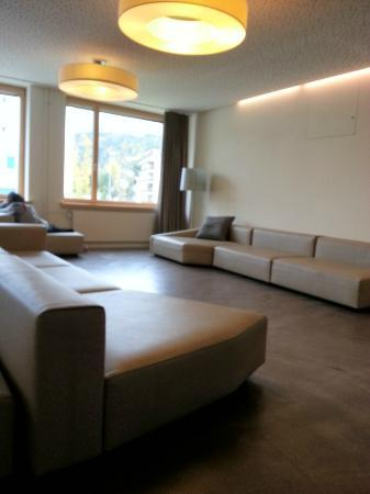 St. Moritz Youth Hostel: The lobby area