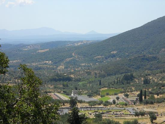 Looking down on Ancient Messene
