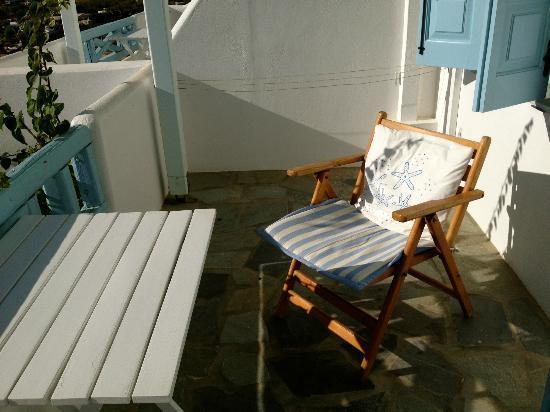 Studios Amfitriti: Spacious balcony