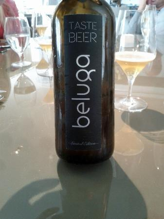 Special Beluga beer with ginger and verveine