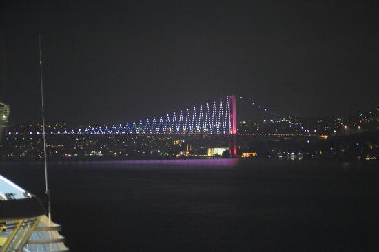 Byzas Tours: Bosphorus bridge by night