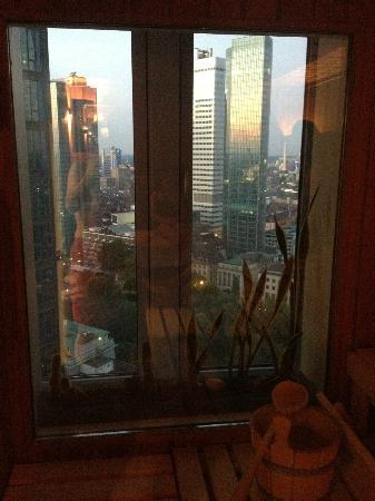 Innside by Melia Frankfurt Eurotheum: View from the sauna in the gym