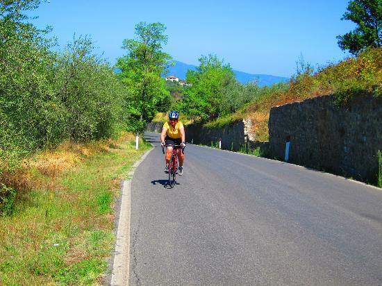 Riding with Cosimo: one of many great roads in Tuscany