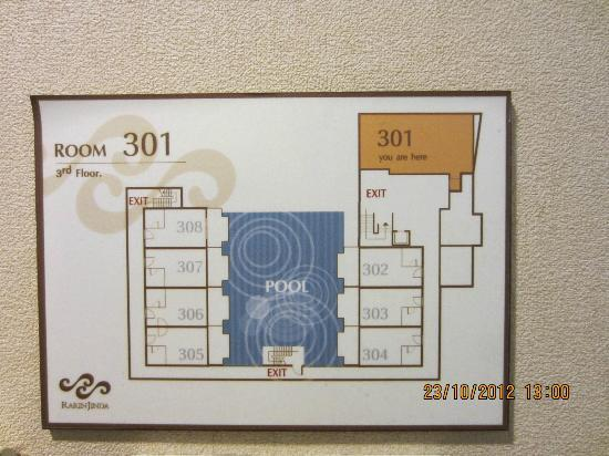 RarinJinda Wellness Spa Resort: Floor Plan of room