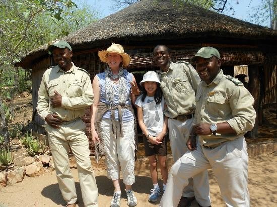 Umlani Bushcamp: With extremely knowledgable guides and trackers Robert, Elvis & Shaddy