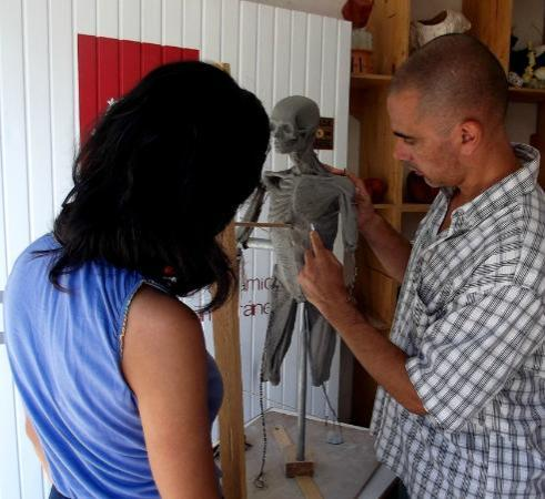 Tuna Contemporary Ceramics Center : teachin process ecorche