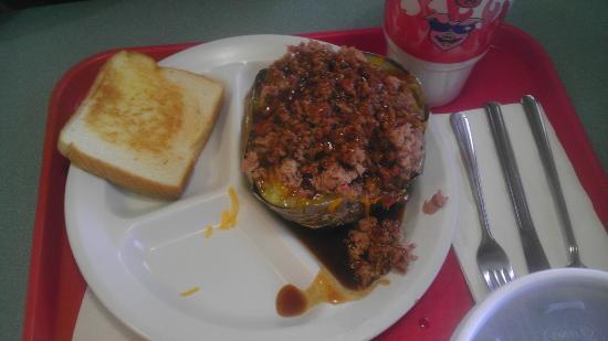 Terrell, TX: Baked potato with chopped brisket
