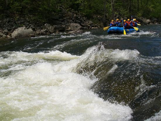 Hawk Mountain Lodge: Whitewater rafting on site
