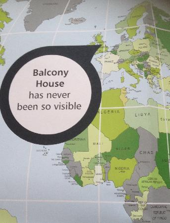 Balcony House Bed and Breakfast: Map