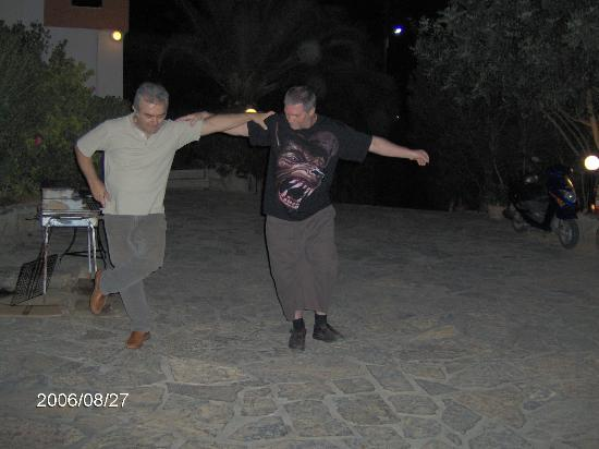 Golden Apartments: Greek Night/BBQ with Yiannis & Fran dancing!
