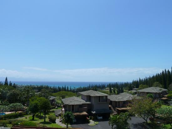 The Kapalua Villas, Maui: View from partial ocean view villa's balcony