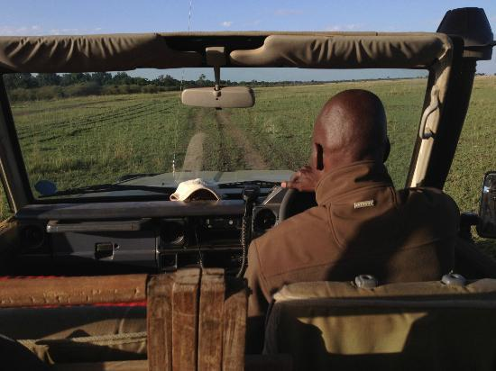 andBeyond Kichwa Tembo Tented Camp: This picture demonstrates being really out there in the open jeep.