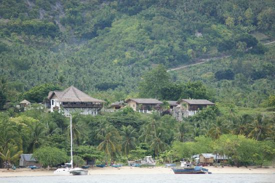 Bodos Bamboo Bar Resort: view from the sea