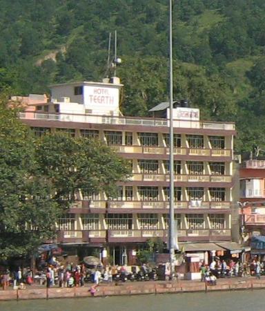 hotel teerth from satabdi bridge across ganga...