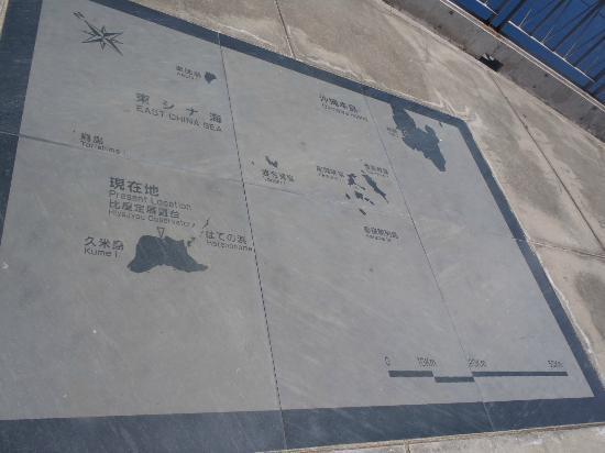 Hiyajo Banta Cliff: 展望台の床の地図