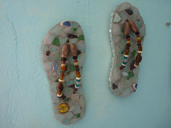 Splash of Glass: Glass sandals