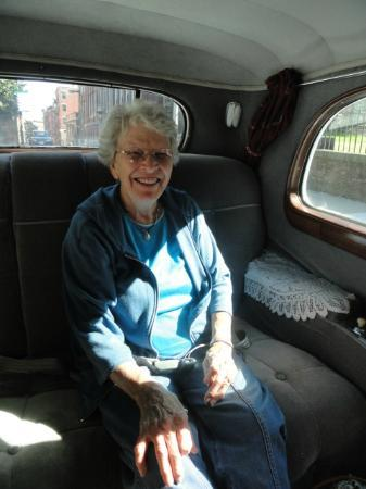 Antique Limousine - Boston Tours: Nice back seat ride.