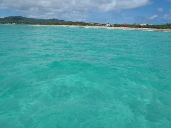 Hatenohama : エメラルドグリーンの海
