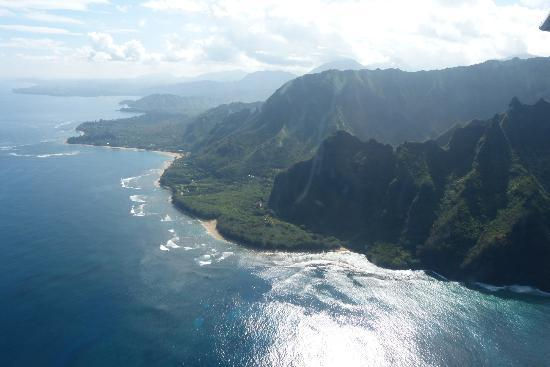 Wings Over Kauai Air Tour: The Napali coastline