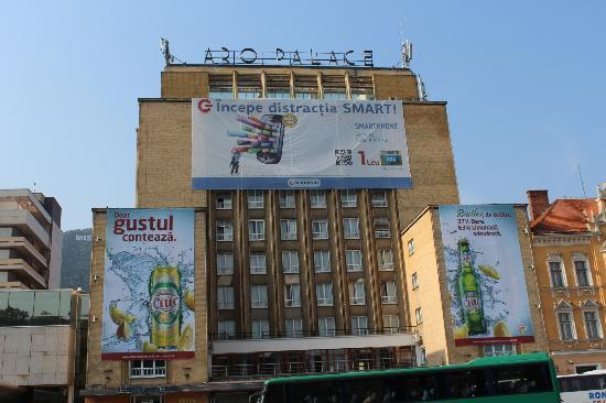 Aro Palace: Older Soviet-era tower