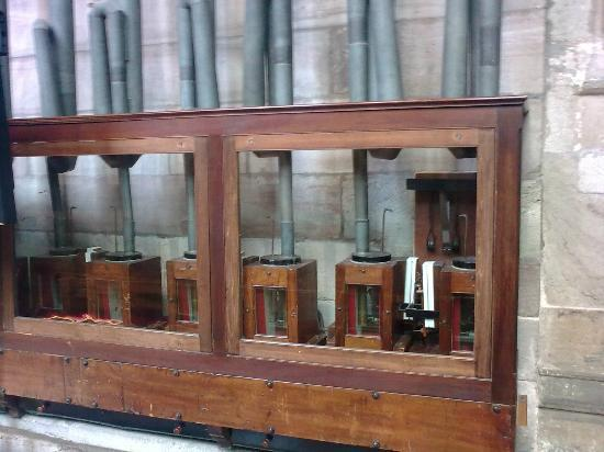 Hereford, UK: Detail of Willis organ, ca. 1850