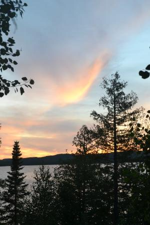Gunflint Pines Resort & Campgrounds: view from an A-frame
