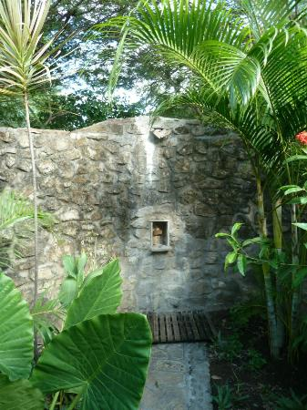 Hotel Punta Teonoste: Outdoor Shower in room